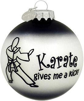 KD Elite Karate Gives Me A Kick Ornament